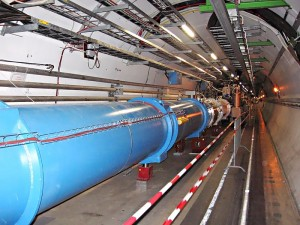 Tunnel in the Large Hadron Collider at CERN. [Image: Wikimedia/Julian Herzog]